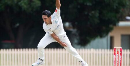 Sutherland fast bowler Tushaar Garg claimed a career best 6-35 on Saturday. Photo: Malcolm Trees